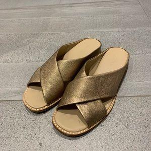 Vince Rose Gold Sandals